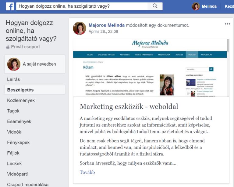 marketing eszközök - weboldal